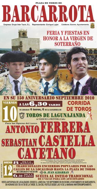 CARTEL DE TOROS FERIAS 2010