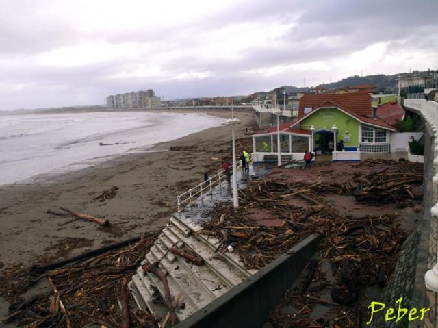 El balneario tras el temporal - Tiempo en salinas castrillon ...
