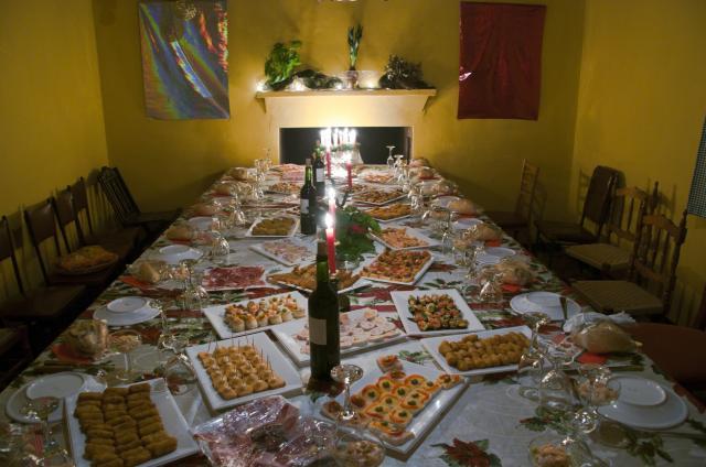 Mesa de navidad zahnos for Mesas para navidad