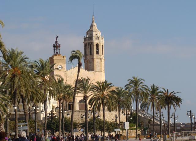 Panoramica de l 39 esgl sia de sitges - Fotos de sitges barcelona ...