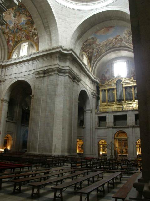 Interior de la bas lica de el escorial crucero san lorenzo de el escorial - Foto foto interior ...