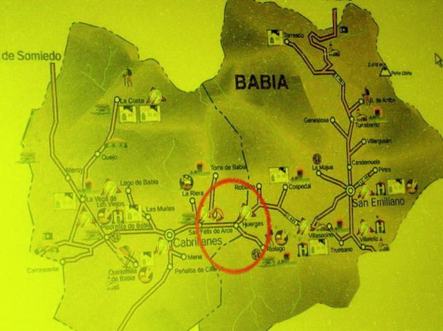 Mapa De Babia Con Sus 28 Pueblos De Dos Aytos Cospedal De Babia