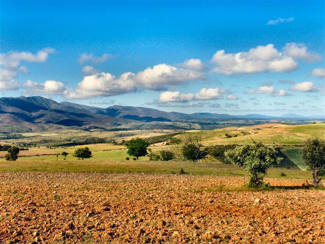 Horizonte sur de Serradilla del Llano