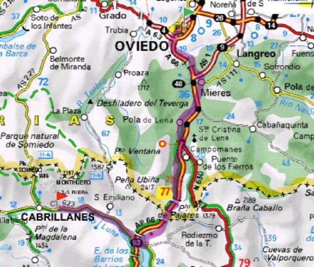 Mapa Para Llegar Desde Asturias A Babia La Riera La Riera