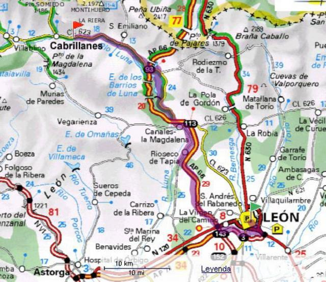 Mapa De Llegada Por Leon A Babia La Riera La Riera